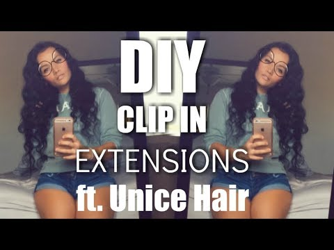 How To Make Clip In Extensions | ft. UNICE Brazilian Body Wave Hair