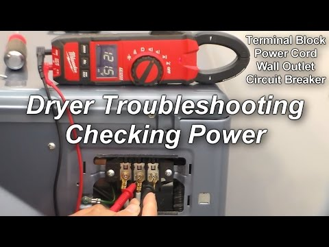 How to Check the Power to your Dryer - Not Heating or Not Running
