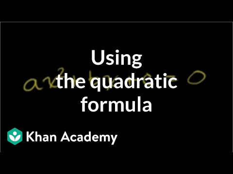 Example: Quadratics in standard form | Quadratic equations | Algebra I | Khan Academy