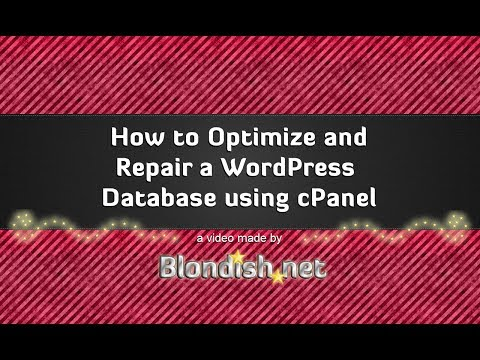 How to Optimize and Repair a WordPress Database Using cPanel