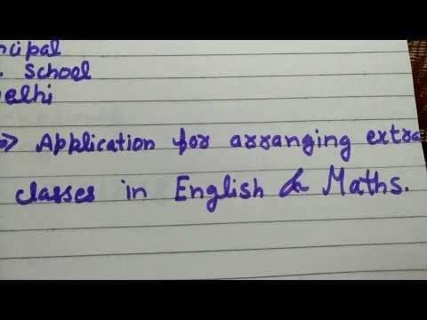 Write a letter to your principal for arranging extra classes in your school of maths and English