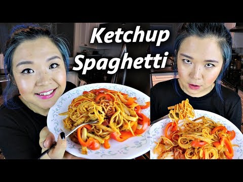 Ketchup Spaghetti Recipe... easy but how does it taste?! #VEGAN