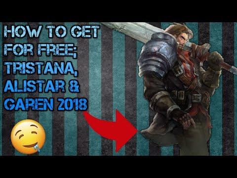How To Get Alistar,Tristana & Garen For FREE!