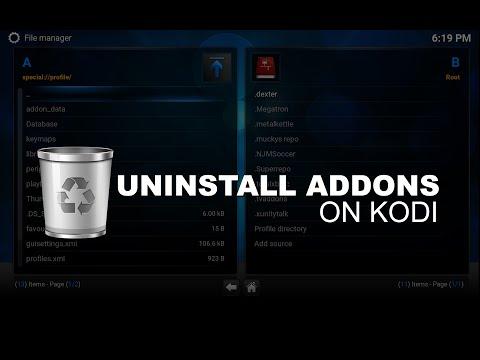 Fully Uninstall Addon on Kodi
