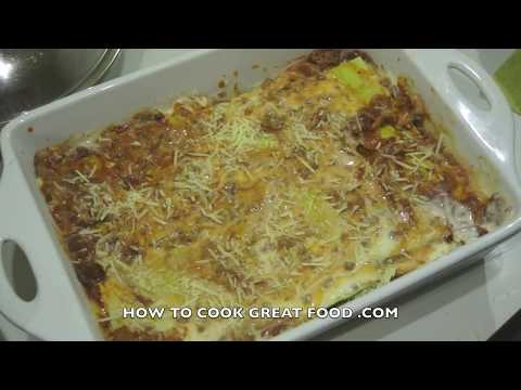 How to make Lasagna Recipe - Lasagne Pasta Meat Sauce - Easy Simple