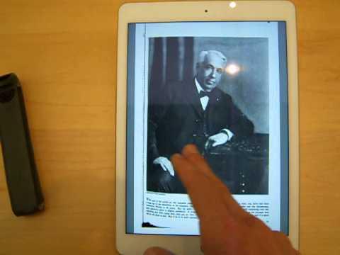Google Books PDF Test iPad Air 2 American Magazine iOS Edition iBooks