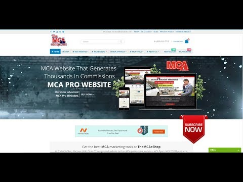 MCA Pro Website That Generates Thousands In Commissions Update - 2018