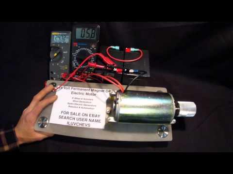 24V DC Permanent Magnet Electric Motor Demo