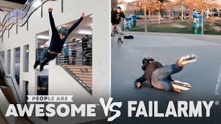 Big Roller Skate Jumps & More Wins Vs. Fails | PAA Vs. FailArmy!