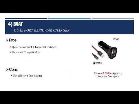 Top 10 Best Car Charger India 2018   Best 12v Car Mobile Charger