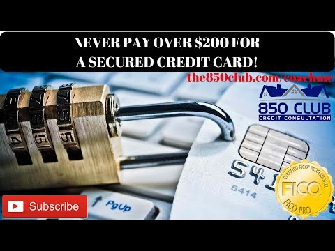 Never Spend Over $200 For A Secured Credit Card! - the850club.com/coachme