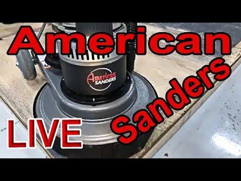 American Sanders LIVE FloorCrafter, AVAC-26 Vacuum, Epoch Buffer Hardwood Floor Demo