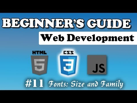 CSS - Fonts | Beginner's Course | #11