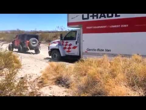 U-Haul Truck Stuck In The Sand - Jeep Wrangler Recovery