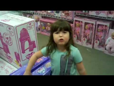 Little Girl Getting Pissed Off About Pink Toys.