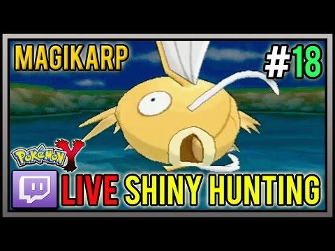 [Live] Shiny Magikarp at 39 Chain Fishing | Live Shiny Hunt #18 | Pokemon X and Y