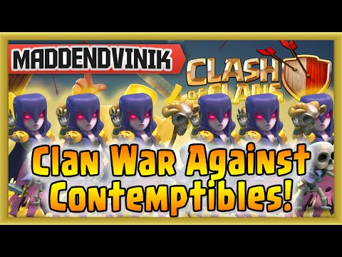 Clash of Clans - Clan War Against Contemptibles! (Gameplay Commentary)