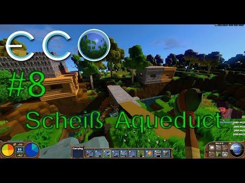 Let's Play ECO #8 Eco Night Aqueduct Versuch / Farm, Craft, Build bis die Finger glühen /Dauerstream