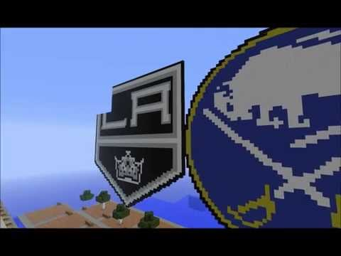 30 NHL Logos created on a Minecraft Server