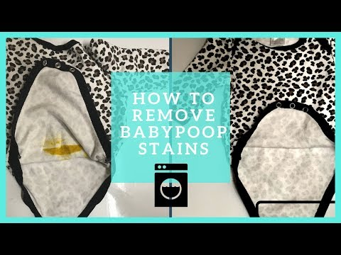 HOW TO REMOVE BABY POOP STAINS