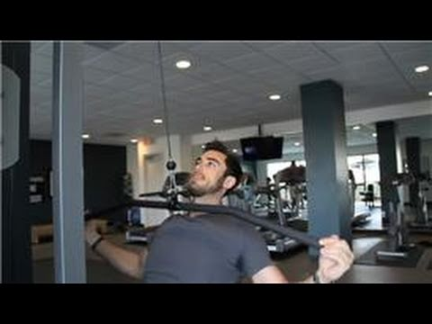 Exercising at a Home Gym : Hammer-Strength Wide-Grip Pull-Down Back Exercise