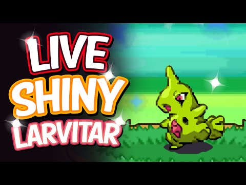Live Shiny Larvitar After A Chain Of 41 Via PokeRadar - Pokemon Platinum