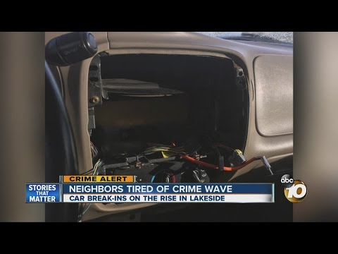 Neighbors tired of crime wave in Lakeside