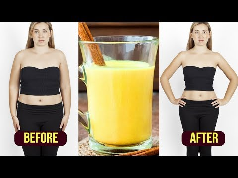 How to Lose Stomach Fat Fast / Turmeric Tea Weight Loss / Fat Burning Tea