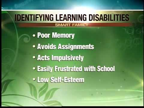 Spot the warning signs of a learning disability