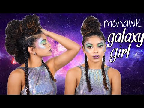 CURLY GALAXY GIRL | Easy Halloween Look | jasmeannnn
