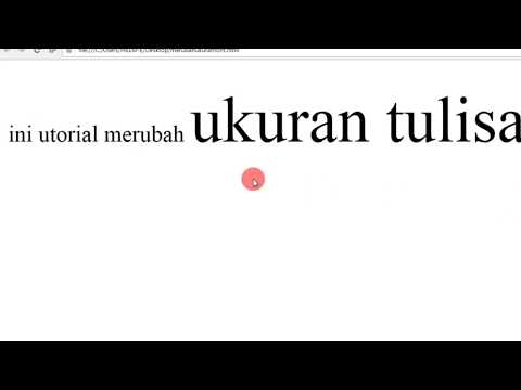 Memperbesar / Memperkecil Ukuran Fonts di HTML & CSS