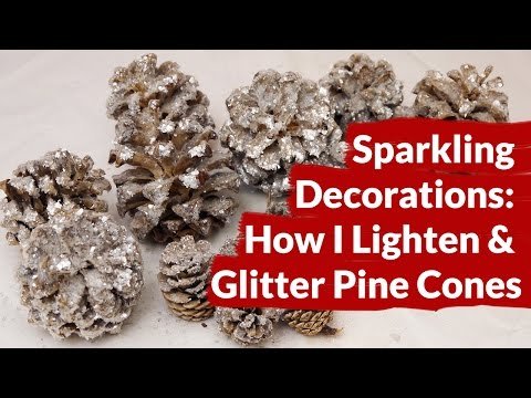 Sparkling Decorations: How I Lighten & Glitter Pine Cones / Joy Us Garden
