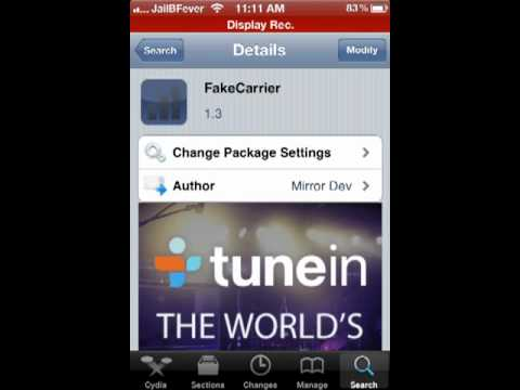 How to Change Carrier name on iPhone 5.1.1