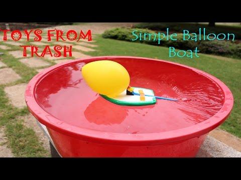 Simple Balloon Boat | English