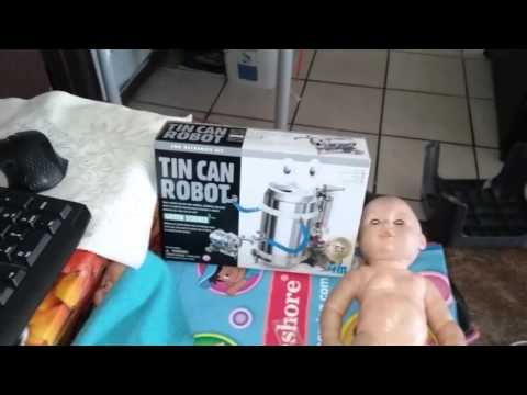Make a tin can robot