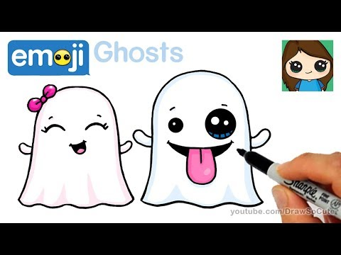 How to Draw the Ghost Emoji Super Easy