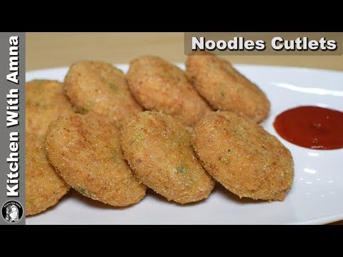 Noodles Cutlets Recipe - Chicken Maggi Noodles Cutlets - Special Ramadan Recipe - Kitchen With Amna