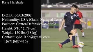 Kyle Halehale U19 Guam National Team Highlights 8 International Matches