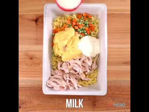How to make a egg chicken noodles with condensed cream chicken soup, Vegetables homemade recipe DIY