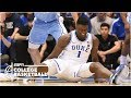 Zion Williamson Leaves With A Knee Injury As UNC Rolls Vs Duke College Basketball Highlights