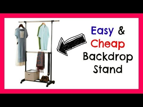 Video Backdrop Stand   Easy, Cheap, Collapsible, & Adjustable