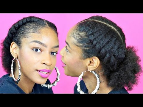 Flat Twist Ponytail on Natural Hair► Natural Hairstyles