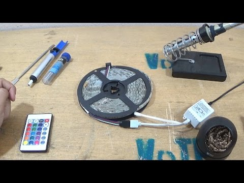 Fita LED RGB com defeito (Mal contato) - Como consertar