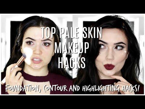 Makeup For Pale Fair Skin | TOP MAKEUP HACKS FOR PALE SKIN