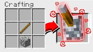 CRAFTING A LEVER IN MINECRAFT! *NOT CLICKBAIT*