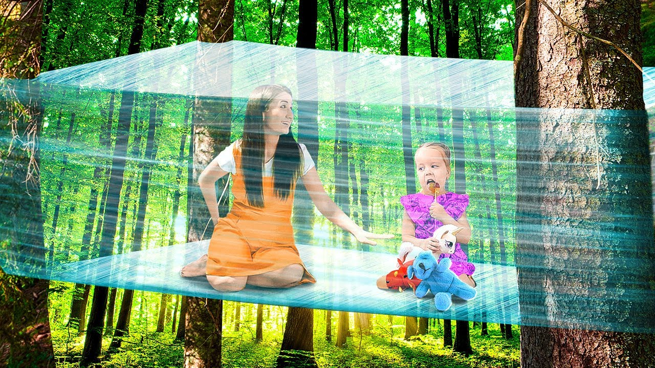 WOW! We Made A Tree House Just From Plastic Wrap! Bushcraft Hacks, Camping Tricks By A PLUS SCHOOL