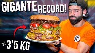 HAMBURGUESA GIGANTE DE +3,5 KG (+5.000KCAL) RECORD ACTUAL