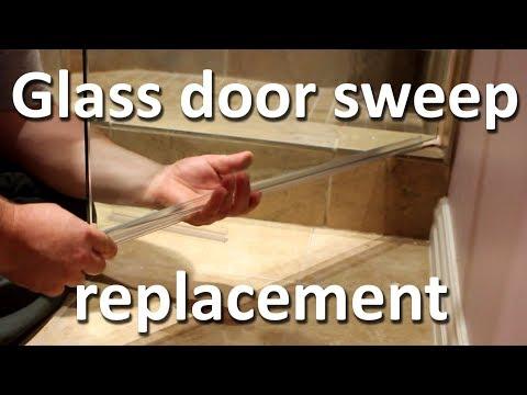 Shower glass door sweep replacement