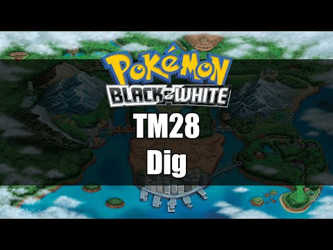 Pokemon Black and White | Where to get TM28 Dig