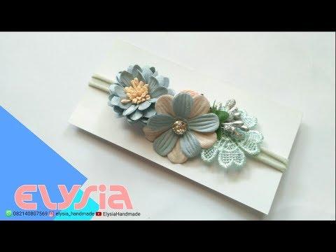 Baby Headband Ideas : Paper Flowers Baby Headband Ideas #2 | DIY by Elysia Handmade